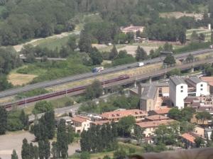 Eurostar train in Orvieto